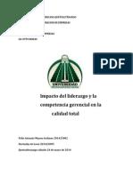Impacto Del Liderazgo y La Competencia Gerencial en La Calidad Total