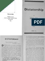 William Joyce - Dictatorship