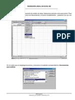 Regresion Lineal en Excel