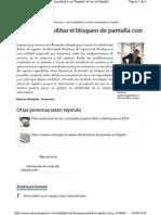 Deshabilitar Bloqueo Pantalla Rege