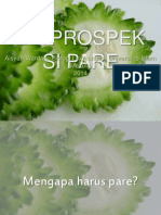 Bioprospeksi Pare