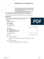 Legislative Policies - Cash Management Plan