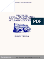 Treatise on Vocal Performance and Ornamentation by Johann Adam Hiller (Cambridge Musical Texts and Monographs) (2001)