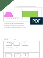 unit math assessments kindergarten
