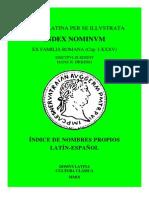Index Nominvm Ex Familia Romana (Cap. I-xxxv),