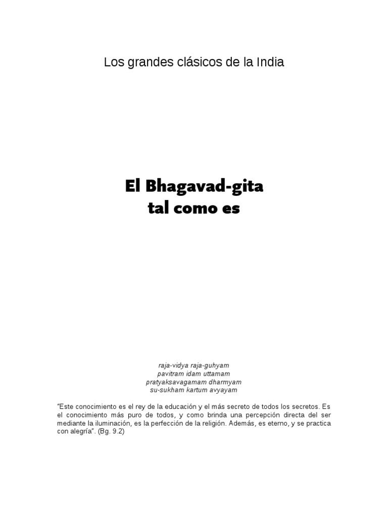 Bhagavad Gita Tal Como Es Sin Diacriticas Bhagavad Gita Karma