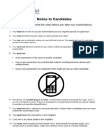 CIE Notice to Candidates