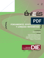 Pensamiento Epistemologia y Lenguaje Matematico