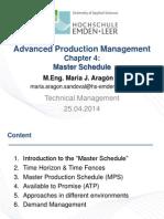 40 Master Schedule