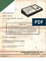 Engine Analyzer model 2161