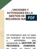 Funciones y Actividades Rr.hh