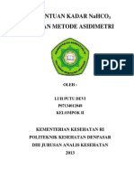 Penentuan Kadar Nahco3 Dengan Metode Asidimetri
