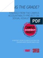2013 Campus Accountability Project Full Report by Students Active For Ending Rape (SAFER) & Until the Violence Stops (VDAY)