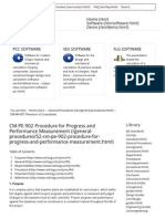 CM-PE-902 Procedure for Progress and Performance Measurement