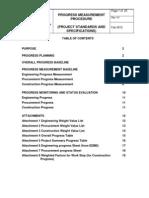 PROJECT STANDARD and SPECIFICATIONS Progress Measurement Procedure Rev01 Web
