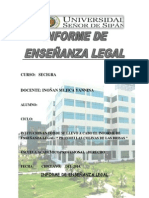 Modelo de Informe Enseñanza Legal