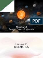 Phy10 Lec2 - Kinematics