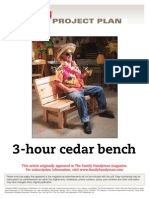 3 Hour Cedar Bench - FH03Apr