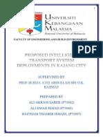Proposed Intelligent Transport System Deployments in Kajang City