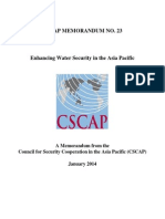 CSCAP Memo No.23 - Enhancing Water Security in the Asia Pacific
