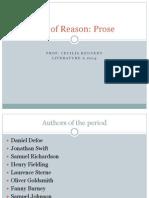 Age of Reason Prose