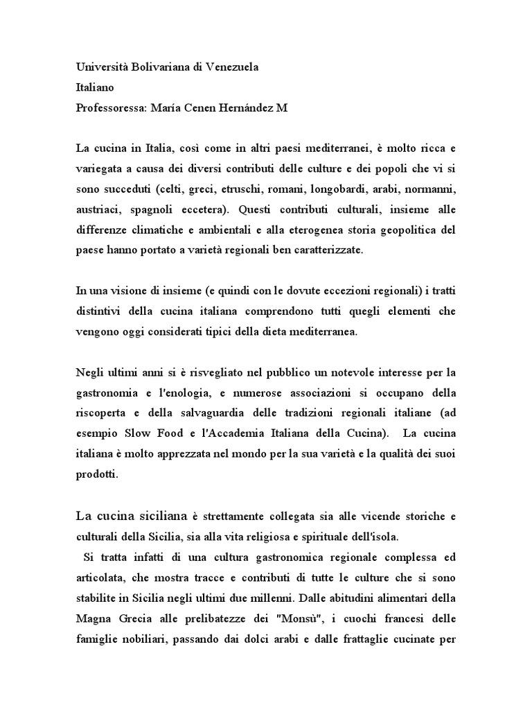 La Storia Della Cucina testo sulla cucina italiana
