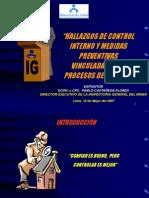 Hallazgos de Control de Interno-c.p.c.pablo Castaneda