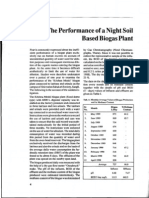 2 1292 the Performance of a Night Soil Based Biogas Plant
