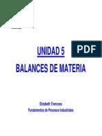 Unidad 5 - Balances de Materia