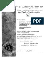 ASME R Certificate (National Board)