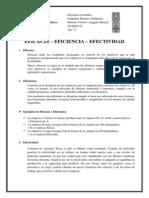 Trabajo - Eficiencia, Eficacia y Efectividad