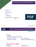Factors Influencing the Grinding Efficiency
