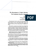 the Determinants of Vendor Selection