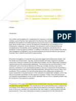 Alli-Determinants of Corporate Dividend Policy