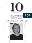 Hillary Watch Unanswered Questions
