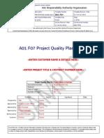 A01.F07 Project Quality Plan REV E