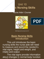 Unit 10-Basic Nursing Skills