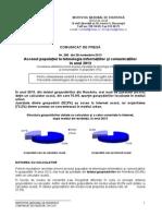Comunicat INS Accesul Populatiei La Tehnologie 2013