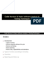 Code Review and Static Ananlysis