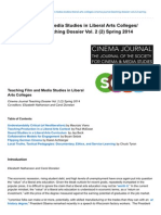 Teaching Film and Media Studies in Liberal Arts Colleges Teaching Dossier Vol 2 2 Spri