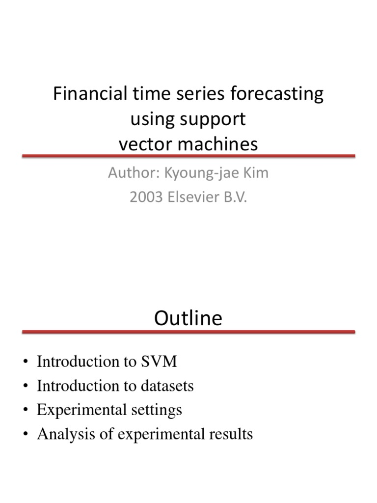 Financial time series forecasting using SVM | Support Vector