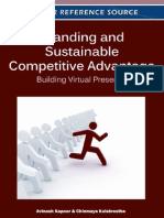 Avinash Kapoor Branding and Sustainable Competitive Advantage Building Virtual Presence 2011