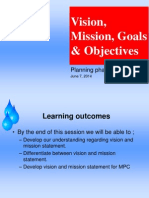 MPH Mission Vision Goals Objectives