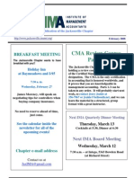 IMA Newsletter - Feb 08