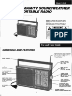 GE 7-2945 Portable Radio