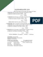 Calendarización 2014-II