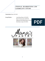 International marketing - Alana's sauces case study