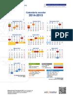 2014 Calendario Escolar 2014-2015 Res V