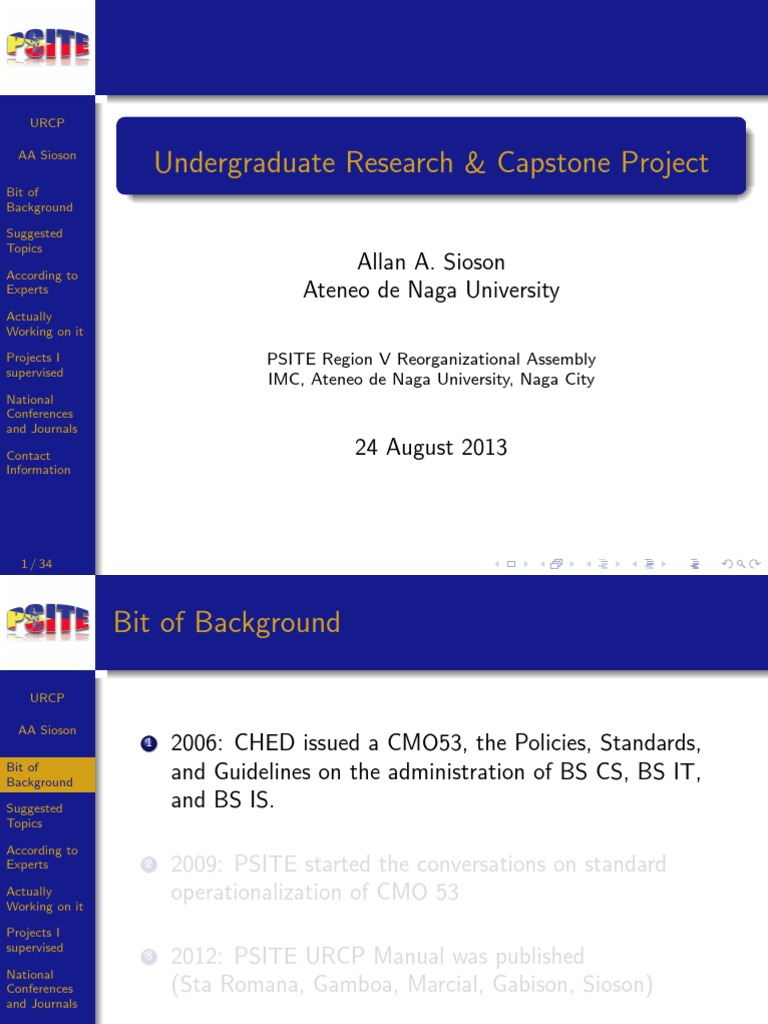 capstone project psite