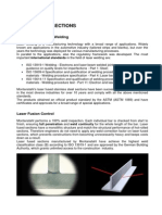 Qualification of Laser Fused Sections